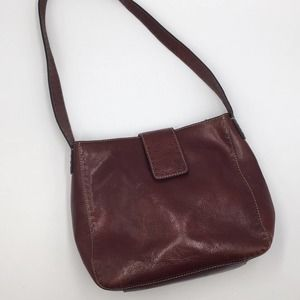Fossil brown leather shoulder bag classic EUC